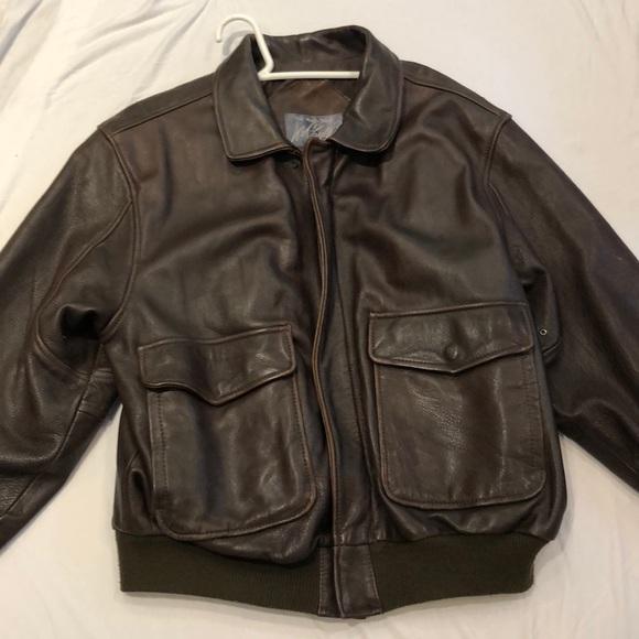 adcf35418 Men's leather Bomber Jacket